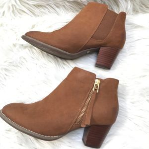 Vionic Women's Tan Suede Ankle Boots 6.5 Sterling